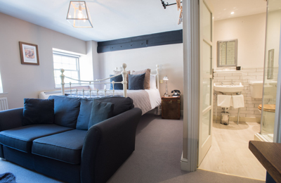 Comfy hotel room - The Head of the River, hotel and pub in Oxford, Oxfordshire.