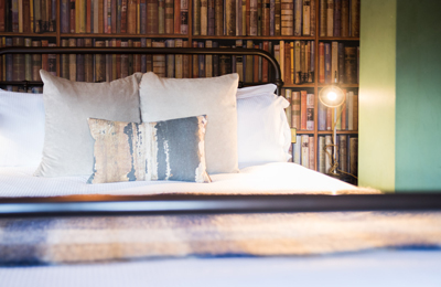 Cosy hotel room - The Head of the River, hotel and pub in Oxford, Oxfordshire.